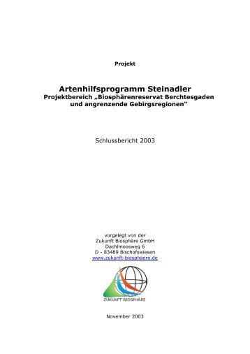 Artenhilfsprogramm Steinadler - Nationalpark Berchtesgaden