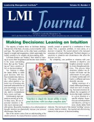Making Decisions: Leaning on Intuition
