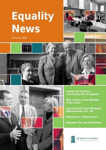 Equality News Autumn 2003.pdf (size 865.4 KB) - Equality Authority