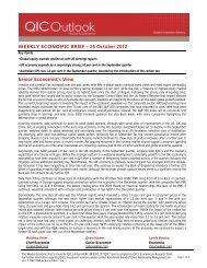 WEEKLY ECONOMIC BRIEF – 26 October 2012 Senior ... - LGsuper