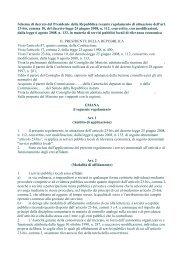 Schema di decreto del Presidente della Repubblica recante ...