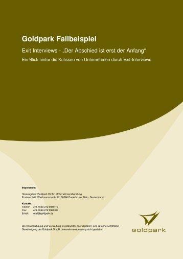 Fallbeispiel - Exit-Interview - Goldpark GmbH Unternehmensberatung