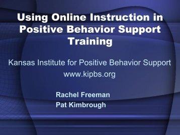Using Online Instruction in Positive Behavior Support Training