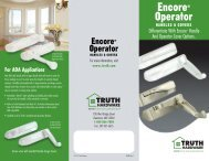 Encore Handle & Cover Options - Truth Hardware