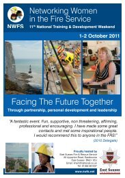 Event flyer - Networking Women in the Fire Service
