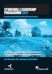 STONEWALL LEADERSHIP PROGRAMME 2011