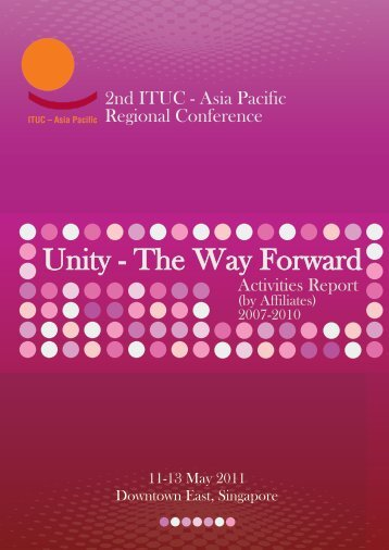 ITUC-AP Activities Report (by Affiliates) 2007 - NTUC
