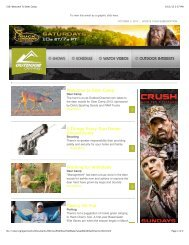 I316: Welcome To Deer Camp - Outdoor Channel