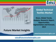 Technical Textiles Market - Global Industry Analysis and Opportunity Assessment 2014 - 2020: Future Market Insights