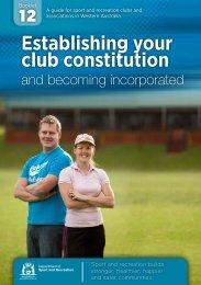 Establishing your club constitution - ClubsOnline