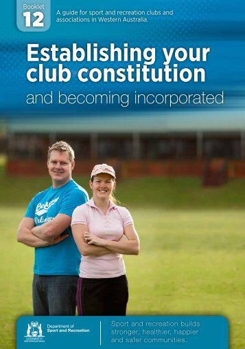 Establishing your club constitution - ClubsOnline