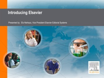 Introducing Elsevier - Activeevents