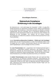 Datenschutz-Compliance Einführung in die Grundlagen - Juconomy ...