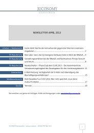 Download des Newsletter als PDF - Juconomy Rechtsanwälte