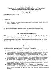 Hamburgisches Gesetz zum Schutz vor den Gefahren des ... - ABNR