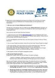 Willkommen auf dem Marktplatz des Peace Forum Berlin 2012. Sie ...