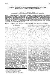 Complete Oxidation of Volatile Organic Compounds (VOCs) Using ...