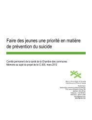 Faire des jeunes une priorité en matière de prévention du suicide