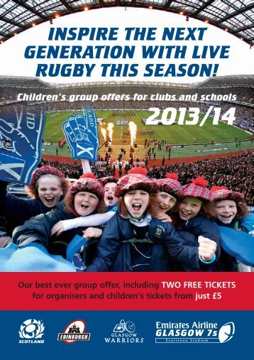 Download the group offer booklet - Scottish Rugby Union