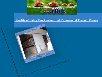 Benefits of Using Our Customized Commercial Freezer Rooms