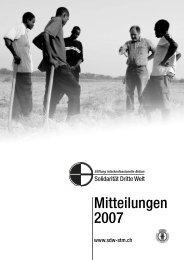 Mitteilungen 2007 - Solidarität Dritte Welt