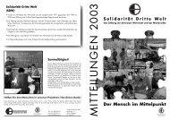 Mitteilungen 2003 - Solidarität Dritte Welt
