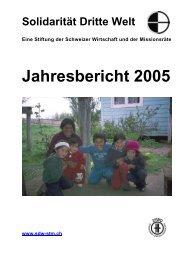 Jahresbericht 2005 - Solidarität Dritte Welt