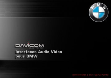 Interfaces Audio Video pour BMW - Davicom Electronics