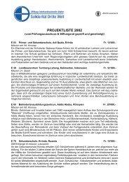 38 Projekte im Jahr 2002 - Solidarität Dritte Welt