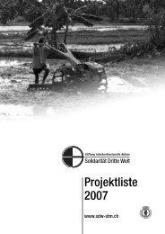 48 Projekte im Jahr 2007 - Solidarität Dritte Welt