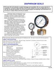 DIAPHRAGM SEALS - Gauges - Thermometers