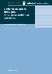 L'esternalizzazione strategica nelle amministrazioni ... - Magellano