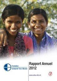 Rapport Annuel 2012 - Solidarität Dritte Welt