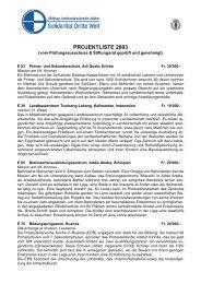 41 Projekte im Jahr 2003 - Solidarität Dritte Welt