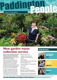 New garden waste collection service - Paddington Development Trust
