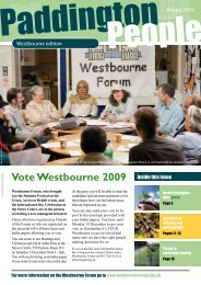Winter 2009 - Paddington Development Trust