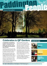 Celebration in QP Gardens - Paddington Development Trust
