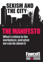 Sexism and The City Manifesto - The Institute of Employment Rights