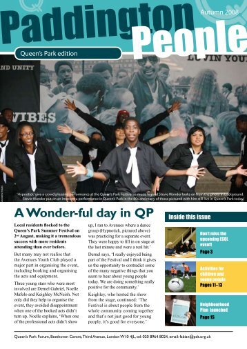 A Wonder-ful day in QP Inside this issue - Paddington Development ...