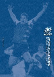 Scottish Rugby annual report 2006/07 - Scottish Rugby Union