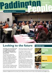 Looking to the future Inside this issue - Paddington Development Trust