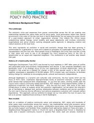 Background - Paddington Development Trust