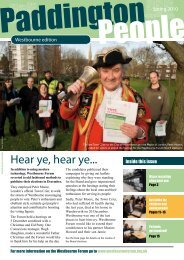 The late Town Crier to the City of - Paddington Development Trust