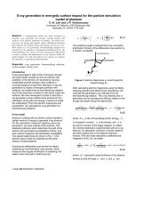 X-ray generation in energetic surface impact for the particle ...