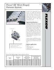 Conveyor Hinged Fastner System - HCD Flow Technology