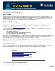 IRS updates correction programs - Prudential Retirement