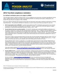 2012 Year-End compliance reminders - Prudential Retirement