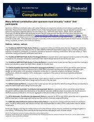 Compliance Bulletin - Prudential Retirement