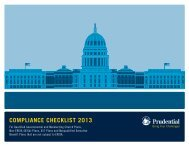 ComplianCe CheCklist 2013 - Prudential Retirement