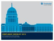 ComplianCe CheCklist 2012 - Prudential Retirement